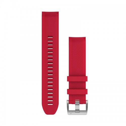 Garmin QuickFit 22 mm Silikone Urrem Plasmarød