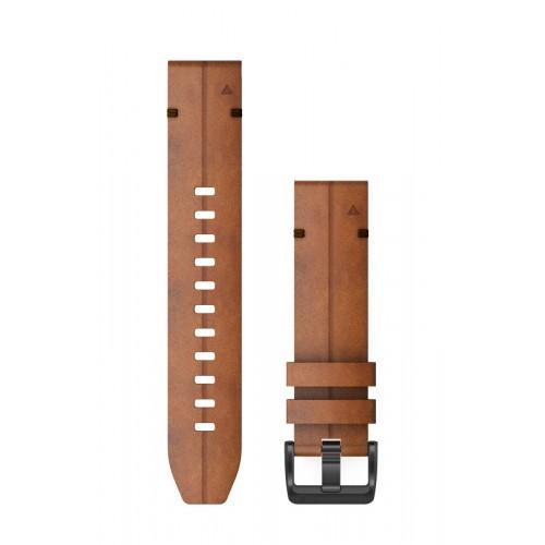 Garmin QuickFit 22 mm Læder Urrem