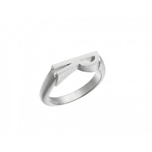 Heiring Initials Ringe Rhodineret Sølv